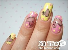 painted heart nails picture tutorial