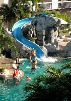 …your kids can play all day long in the aqua slide of Centara Kata Resort Phuket, in Thailand