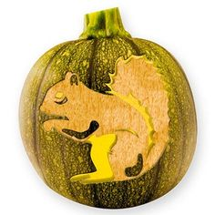 Squirrel Pumpkin Stencil -- More free pumpkin stencils at: http://www.bhg.com/holidays/#page=2
