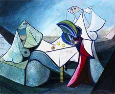 Mujeres, 1942. Cubismo, Surrealismo - Óscar Domínguez