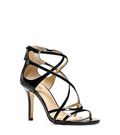Linette Patent-Leather Sandal  by Michael Kors