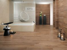 Modern porcelain stoneware flooring with wood effect Atlas Concorde Studio offers you a revolutionary product - modern porcelain stoneware flooring. This type of flooring is resistant, elegant and suitab. Concorde, Rustic Design, Wood Design, Bathroom Spa, Types Of Flooring, Wall And Floor Tiles, Home Spa, Kitchen Backsplash, Interior Decorating