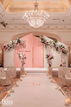 Trang trí sân khấu tiệc cưới tông hồng- Wedding Stage Ideas- Park Hyatt Saigon- Bliss Weddings Planner Vietnam #wedding #weddingplanner #vietnamwedding #vietnamweddingplanner #blissweddingplanner #vietnamweddingceremony #vietnamweddingdecoration #trangtrítiệccưới #tổchứctiệccưới #luxuryweddingdecoration #vietnamluxurywedding #luxuryweddingvenue #orientalweddings #elegantwedding #delicatewedding #parkhyatt #geometricideas #geometricwedding #pinkwedding Wedding Backdrop Design, Wedding Hall Decorations, Wedding Stage Design, Wedding Reception Backdrop, Backdrop Decorations, Wedding Designs, Wedding Background, Wedding Colors, Marie