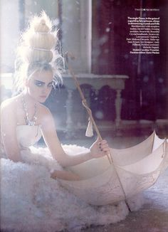 "Caroline Trentini in ""The Snow Queen"" by Tim Walker for Vogue UK, March 2009."