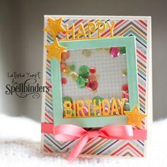 Happy Birthday Shaker Card | Spellbinders