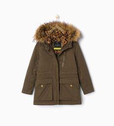 Bild 1 av Parkas med löstagbar päls från Zara