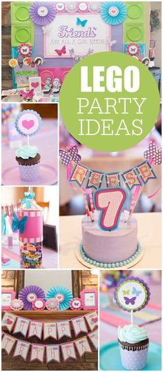 We love these ideas for a fun and colorful LEGO Friends birthday party! Add the LEGO Friends characters Emma, Stephanie, Olivia, Andrea and Mia to your celebration because friends are the only thing you need.