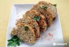 Sajtos-zabpelyhes húsrolád   NOSALTY Meatloaf, Food, Meals, Yemek, Eten
