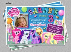 My Little Pony Birthday Party Invitations -DIY Digital File -You Print. $16.00, via Etsy.