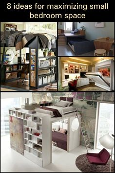 Most of us just can't have enough bedroom space at home! But if you believe you could do much more with the space that you have, here are a few ideas to get you started… Saving Ideas, Space Saving, Mansions, Bedroom, Furniture, Home Decor, Decoration Home, Manor Houses, Room Decor