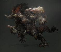 fantasy concept creature, jerry park on ArtStation at https://www.artstation.com/artwork/fantasy-concept-creature