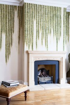 de Gournay wallpaper Willow design. Photography by Dan Marshall.