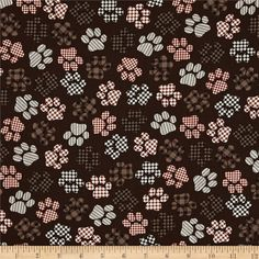 Kanvas+Best+in+Show+Top+Paws+Brown from @fabricdotcom  Designed+by+Greta+Lynn+for+Kanvas+in+association+with+Benartex,+this+cotton+print+fabric+is+perfect+for+quilting,+apparel+and+home+decor+accents.+Colors+include+black,+white,+and+shades+of+brown.