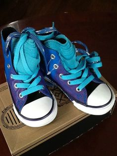 fafa1e7c70c693 Infant Girls Hi-Top Shimmer Shiny Blue Purple Shoes  Sizes  5