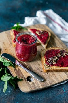 A-listers, ginger and cardamom, are the stars of this Raspberry Chia Seed Jam. Best of all, just 7 low sugar ingredients (bye-bye GMO pectin and refined sugar) separate you from adding this delicious food topper to your eggs, pancakes, glaze, and sweet potato toast. Booya!