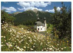 Seefeld, Tirol, Austria, The Little Chapel by the Lake (baroque) Rare Postcard Vienna, Baroque, Poster, Cabin, Mountains, Tirol Austria, Architecture, World, House Styles