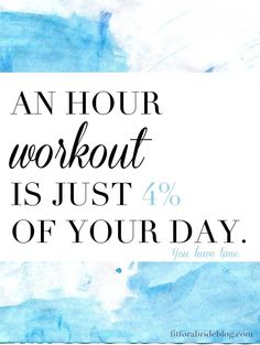Who doesn't have one hour a day?