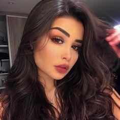 Brunette Makeup, Brunette Beauty, Glam Makeup, Beauty Makeup, Hair Beauty, Mode Poster, Brunette Highlights, Makeup Eye Looks, Girl Tips