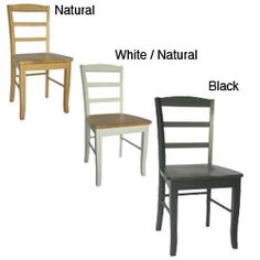 @Overstock - Dine in comfort, while adding style to your home and dining room decorDining chairs are made with beautiful and sturdy solid woodFurniture set is available in a natural finish, white with natural finish or a black finishhttp://www.overstock.com/Home-Garden/Madrid-Ladderback-Chairs-Set-of-2/4393204/product.html?CID=214117 $117.99