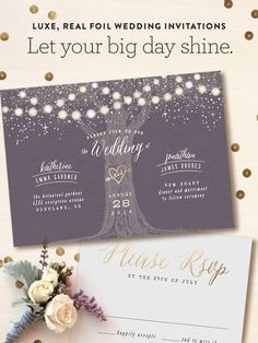 One of our favorite designs from @minted. #evening #wedding #lights #invitations #love #rsvp #gold #foil