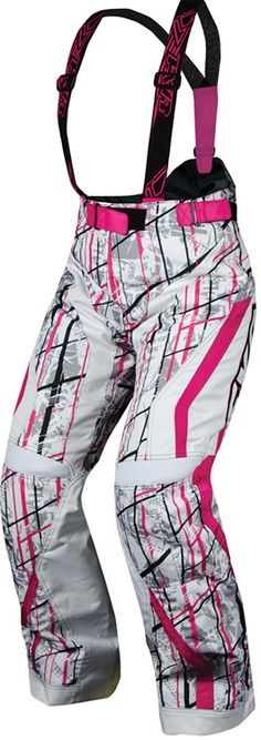 FXR Racing - Snowmobile Gear - Women's X-System Pant - Fuchsia/White Saboplaid Motorcycle Camping, Camping Gear, Camping Outdoors, Love Fashion, Autumn Fashion, Womens Fashion, Snowmobile Pants, Snowmobile Clothing, Snow Outfit