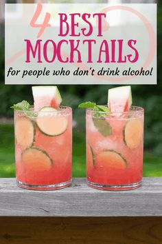 The Best Mocktails For People Who Don't Drink Alcohol. alcool The Best Mocktails For People Who Don't Drink Alcohol Best Mocktails, Mocktail Drinks, Drink Recipes Nonalcoholic, Alcholic Drinks, Non Alcoholic Cocktails, Drinks Alcohol Recipes, Refreshing Drinks, Coctails Recipes, Gastronomia