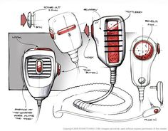 MICROPHONE | pencil and digital drawing, differnt designs | by _ follow link