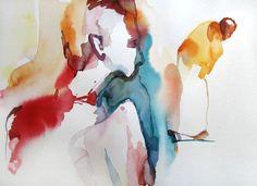 "Saatchi Art Artist Sylvia Baldeva; Painting, ""Away - watercolor"" #art"