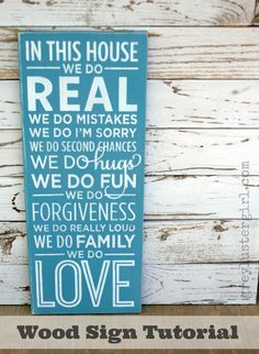 In This House We Do Wood Sign Tutorial
