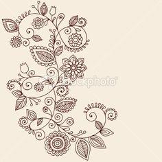 Paisley Flower Tattoo