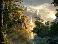 From the Lord of the Rings--what a beautiful and peaceful place it seems.