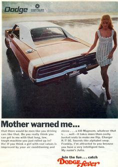 Love this ad for the 1969 Dodge Charger RT!