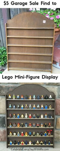 cool way to keep the kids' lego mini-figures organized and off the floor! More Does your kid love Legos? Get organized with a Lego Mini-Figure Display. It is a lot easier than you think and looks awesome when you're done. Lego For Kids, Diy For Kids, Mesa Lego, Mini Figure Display, Minifigures Lego, Lego Minifigure Display, Diy Pour Enfants, Lego Bedroom, Bedroom Kids