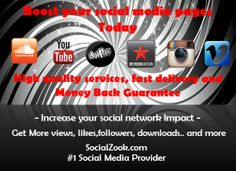 At SocialZook.com you can Buy Instagram Followers, Buy instagram Likes, and much more! We offer quality services for many social network platforms! Its your chance to take over.