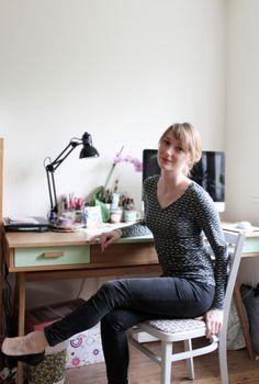 Illustrator Emma Block, who created the artwork for our Google+ Hangout, kicks back in UNIQLO x Orla Kiely HeatTech. #UNIQLOOrlaKiely