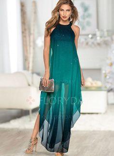 Dress - $46.99 - Color Block Pencil Sleeveless Maxi Sheath Dress (1955392199)