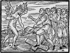An engraving of the Devil from the Compendium Maleficarum, by Francesco Maria Guazzo, Satan, Paranormal, Bible Hébraïque, Witch History, Art History, Demon Drawings, Male Witch, Maleficarum, Traditional Witchcraft