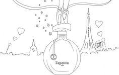 Coloriage : Le parfum Repetto