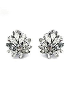 Ti Adoro-Floral Crystal Stud Earrings by Ti Adoro-Floral Crystal Stud Earrings // More from Ti Adoro-Floral Crystal Stud Earrings: http://www.theknot.com/gallery/wedding-jewelry/bella-bleu