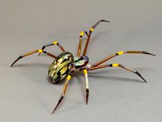 Spider Borosilicate Glass Sculpture by FrozenFlowGlass on Etsy
