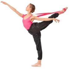 """""""This heavy duty resistance flexibility band by Gaynor Minden was designed especially for dancers.  The continuous loop allows for hand-free stretching. It is generously sized so even the longest of legs (gentlemen, we are looking at you) can stretch too!  This flexibility band is made with a seamless wrapped technology for a smooth and comfortable surface."""""""