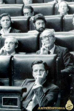 Suárez y Calvo Sotelo en el Congreso - Obra - ARTEHISTORIA V2