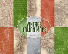 "#Vintage #Maps Digital Paper ""Vintage #Italian Maps""  digital antique maps, italian maps, vintage maps backgrounds, old maps, high res maps, vintage paper, maps of italy  Thes... #etsy #digiworkshop #scrapbooking #illustration #creative #clipart #printables #cardmaking #maps #italy #italian #vintage #antique"