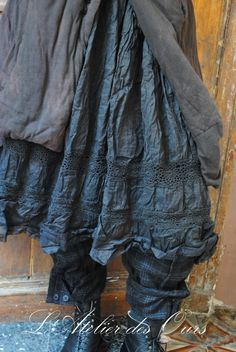 MISS Adelise: Chocolate RUNDHOLZ jacket, black organza skirt pants EWA EWA IWALLA IWALLA