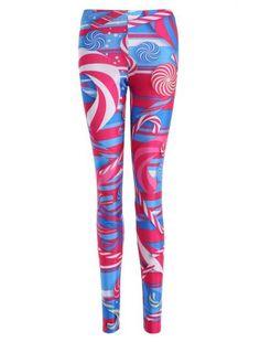 Skinny Lollipop Print Leggings (Colormix)