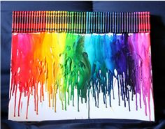 8 Things to Do with melted Crayons....really cool!