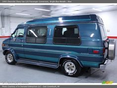 1993 Chevrolet G20 Conversion Van | ... Bright Blue Metallic 1993 Chevrolet Chevy Van G20 Passenger Conversion