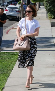Get Lily Collins's look that all started with a plain white tee.