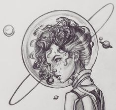 Space Bubble What's her story? Caption this. I'm curious what you guys come up with. . . . . #faithfulimagination #sketch #sketchbook #draw #drawing #traditionaldrawing #traditionalart #originalart #pencildrawing #pencilsketch #instaart #instaartist #art #astronaut #galactic #galaxy #universe #outterspace