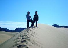 En las dunas de Laguna Salada